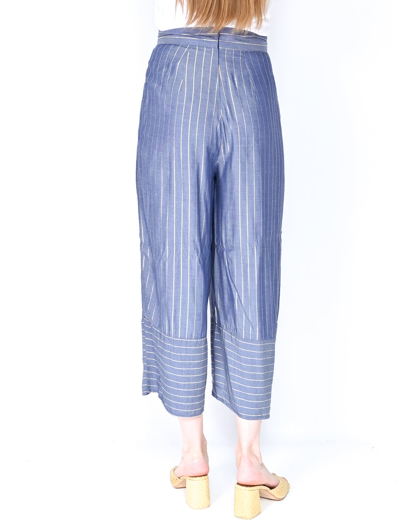 AMANDA UPRICHARD Metallic Stripe Ravine Pants NWT (Size S)