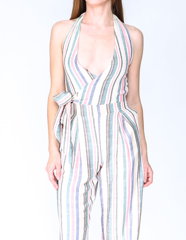 SOLID & STRIPED Multi Stripe Camille Jumpsuit NWT (Size S)