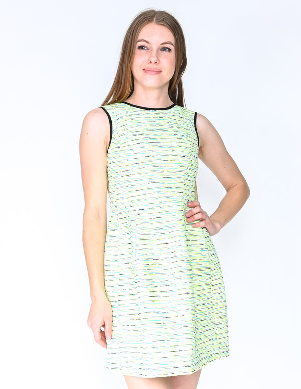 SHOSHANNA Neon Green Embroidered Mini Dress NWT (Size 0)