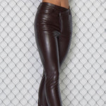 Load image into Gallery viewer, Flatter Me Vegan Leather Pants