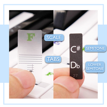 Load image into Gallery viewer, Removable Piano Key Stickers