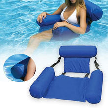 Load image into Gallery viewer, Inflatable Hammock Swimming Pool Float Lounge With Backrest 47 X 40 In