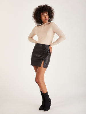 Annabelle Vegan Leather Skirt
