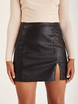 Load image into Gallery viewer, Annabelle Vegan Leather Skirt