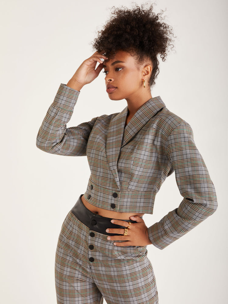 Delilah Plaid Jacket