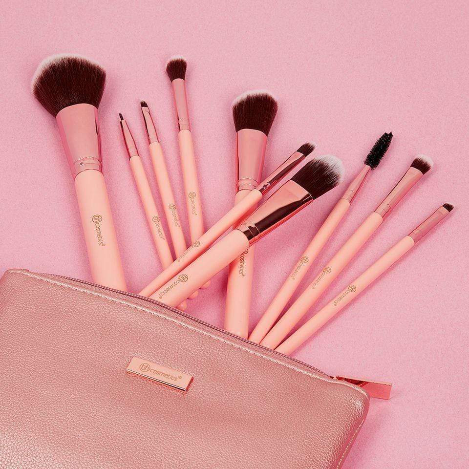 Buy BH Cosmetics Pretty In Pink 10 Piece Brush Set With Cosmetic Bag –  HighStreet Pakistan