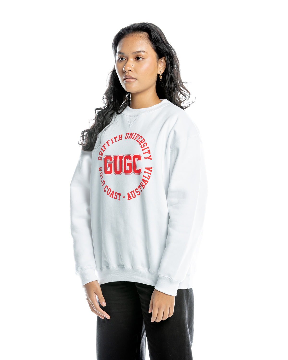 Griffith unisex white sweatshirt
