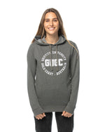 Load image into Gallery viewer, Women's fitted Griffith hoodie with embroidery