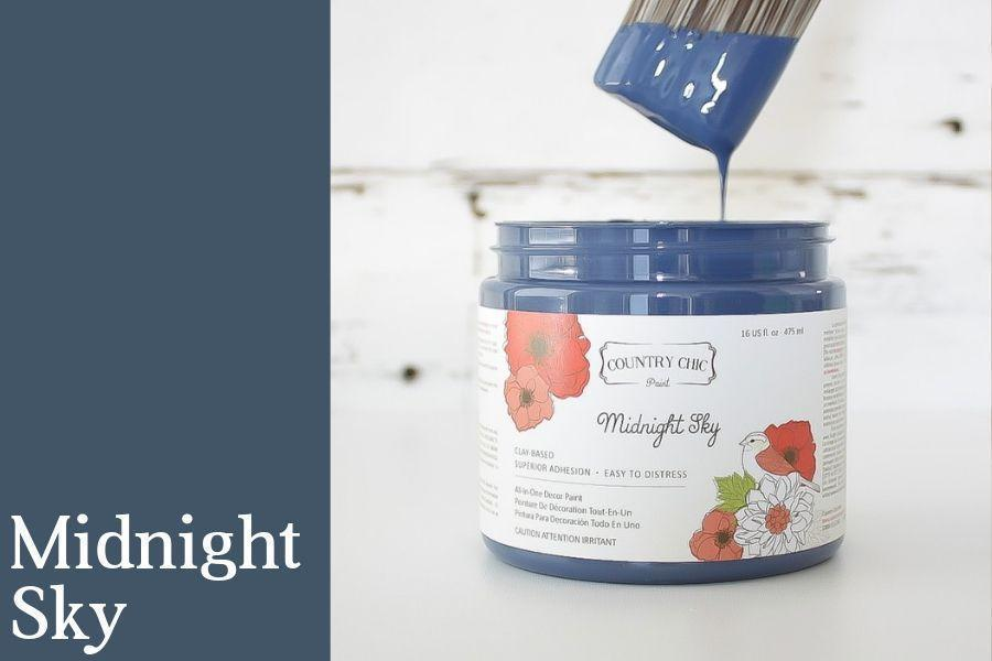 Midnight Sky - All-In-One Chalk-Style Paint - 4oz. - 16oz. - 32oz.