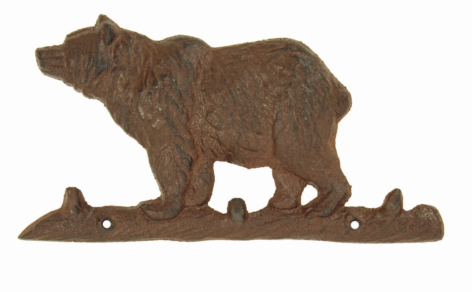 Big Bear Key Rack - Triple Hook - Antique Brown