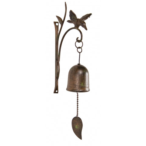 Bird Hook with Bell - Antique Brown