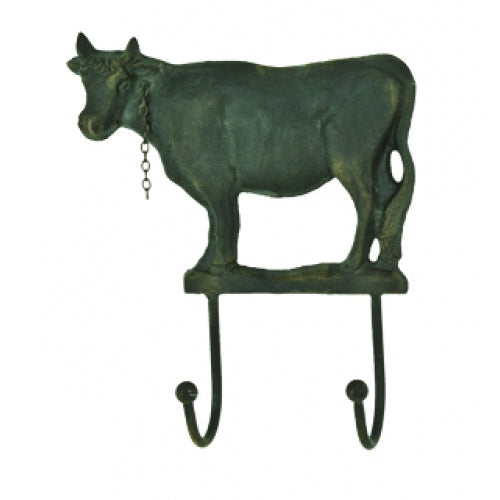 Cow Hook - Double Hook - Antique Brown-Green Patina