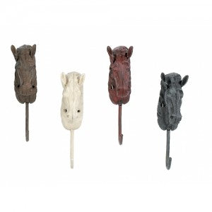 Horse Head Hooks - Single Hook - Multi Color
