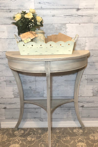Light Gray Half-Moon Table