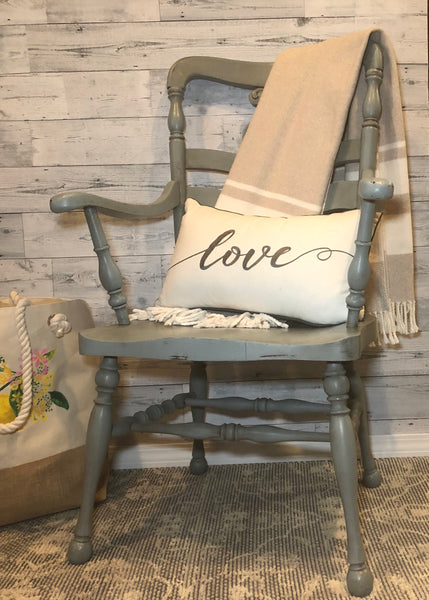 Rustic Light Blue Chair