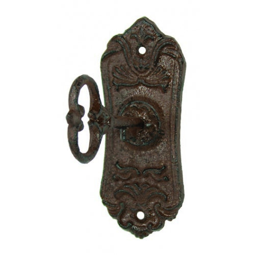 Antique Brown Key in Lock Hook