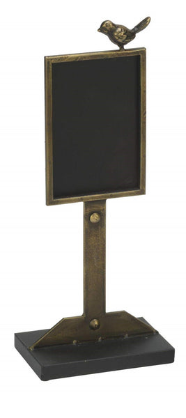 Decorative Chalkboard in Antique Gold Finish