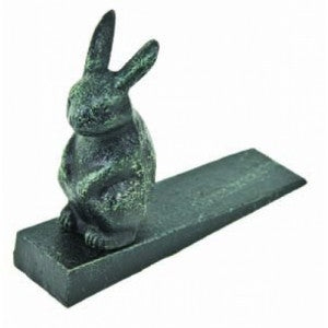 Rabbit - Bunny - Antique Green Door Wedge - Door Stop