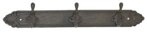 Hat Rack - Three Hooks - Antique Brown