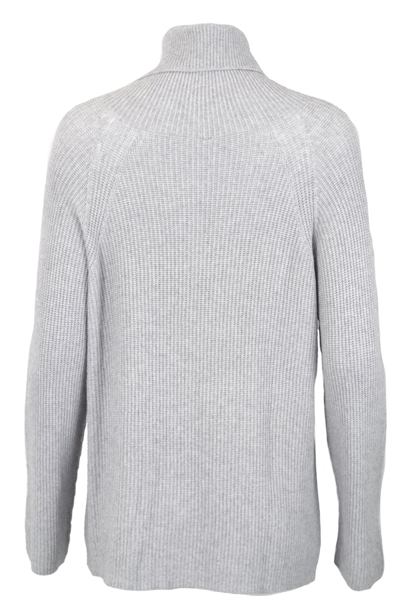 Pour Moi Angora Mix Polo Neck Sweater Light Grey