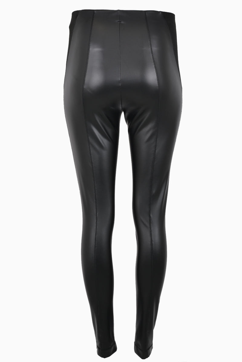 Patrizia Pepe Trousers Faux Leather Black