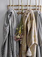 Bloomingville Recycled Cotton Patterned Throw Grey