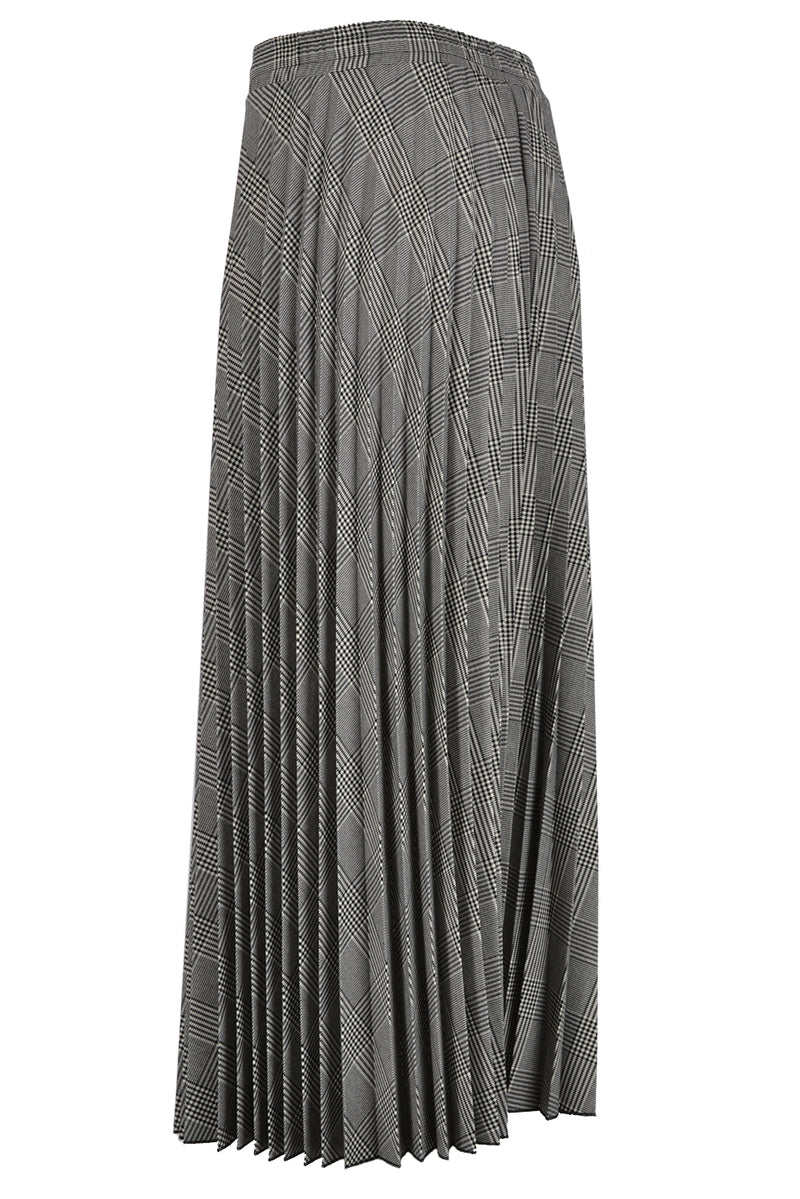 OttOttod'Ame Houndstooth Pleated Skirt
