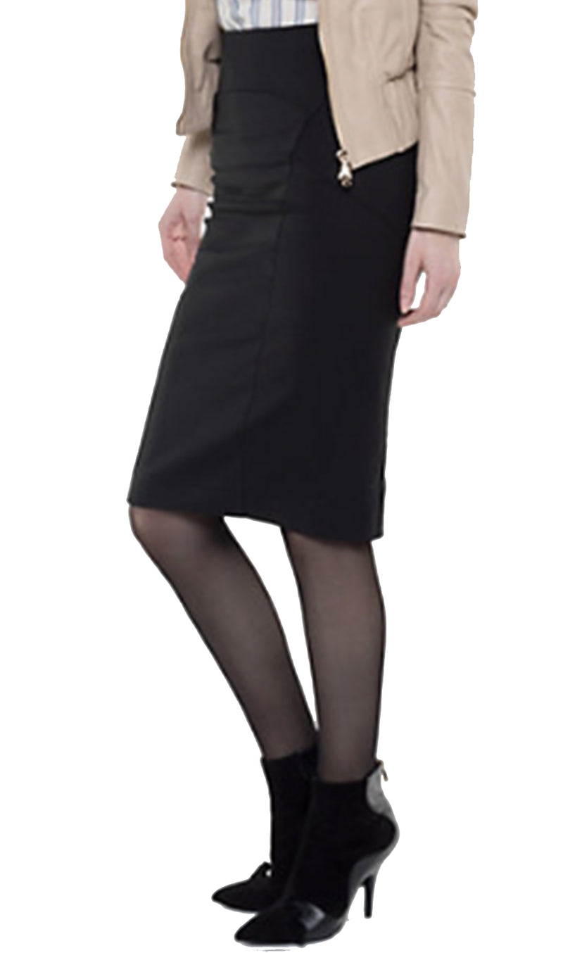 Patrizia Pepe Skirt Two-Way Stretch Pencil Black