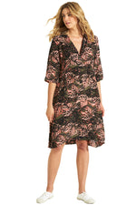 Oneseason Dress JAZZ CONGO Print Terracotta