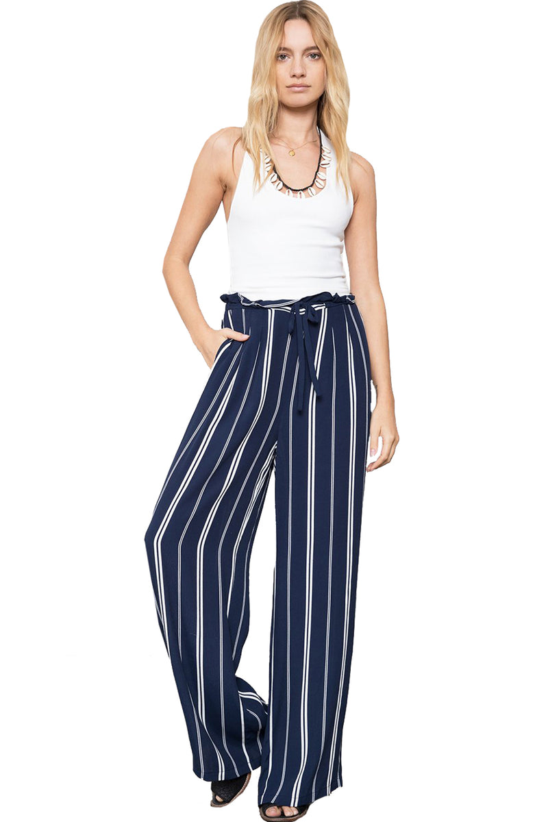Rails Clothing Trousers ROONEY Wide Leg Admiral Stripe Navy