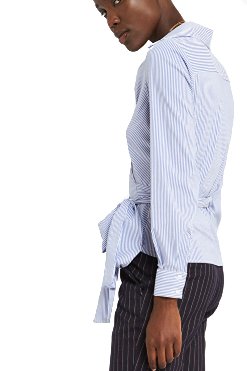 Ottodame Shirt EN4245 Wrap Stripe Light Blue