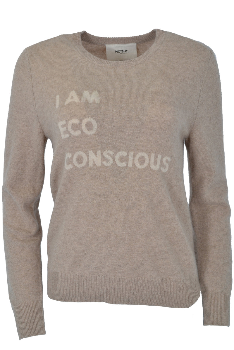 Not Shy Cashmere I Am Eco Jumper Porridge IMANI