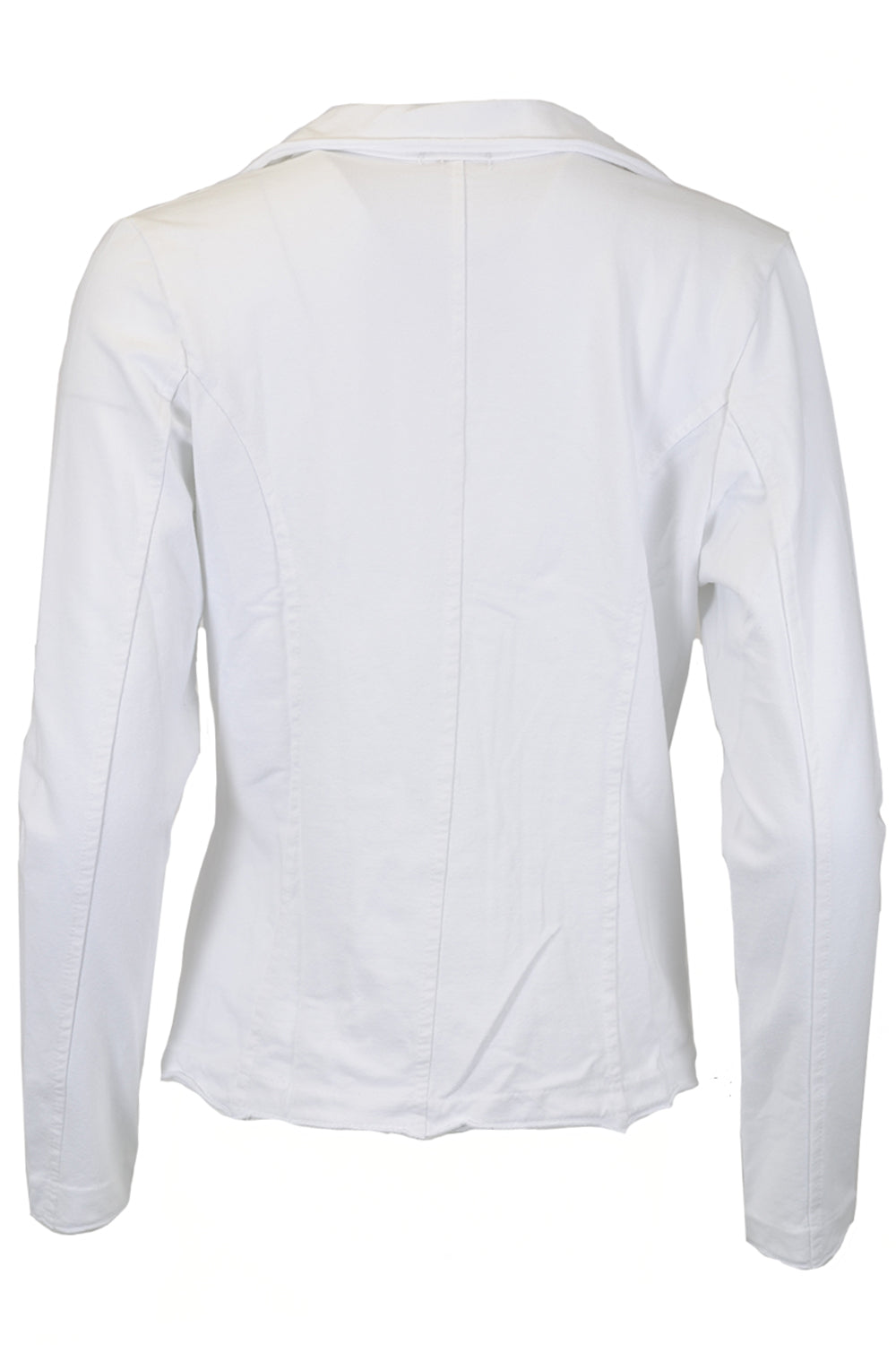 Suzy D Jersey Jacket with Raw Edges White
