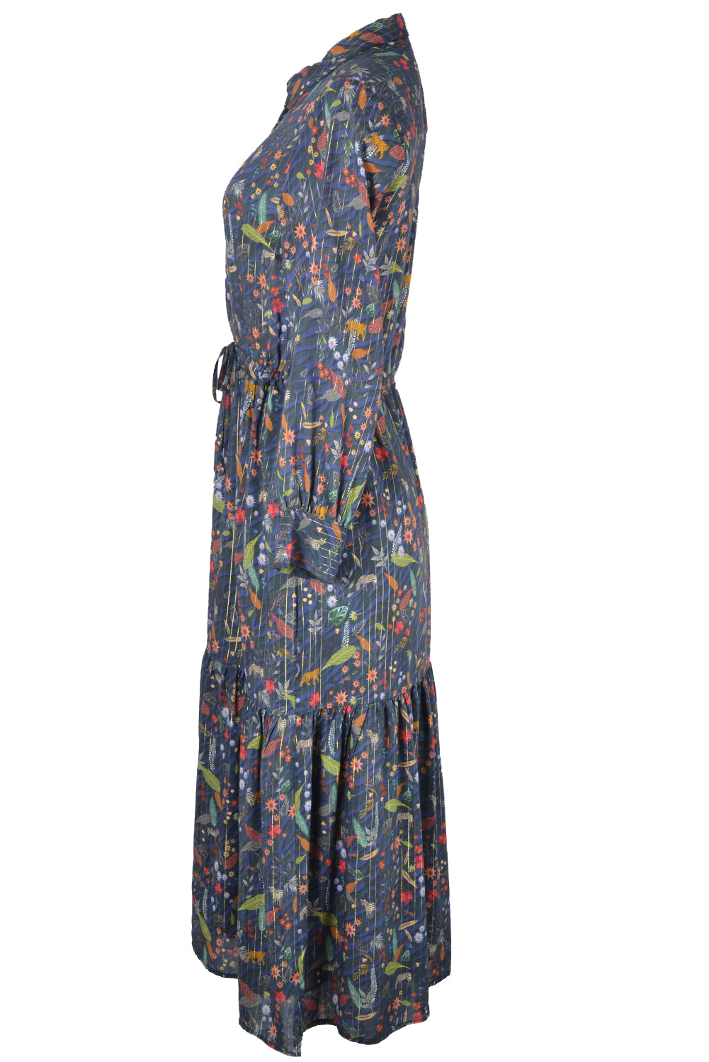 Vilagallo EVE Nocturnal Print Maxi Dress Dark Navy