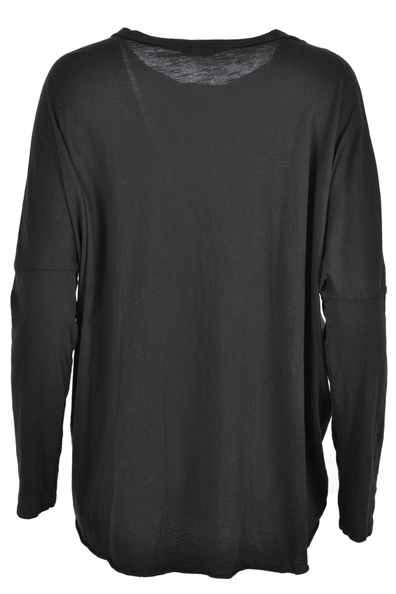 Suzy D Oversized Jersey Top Black