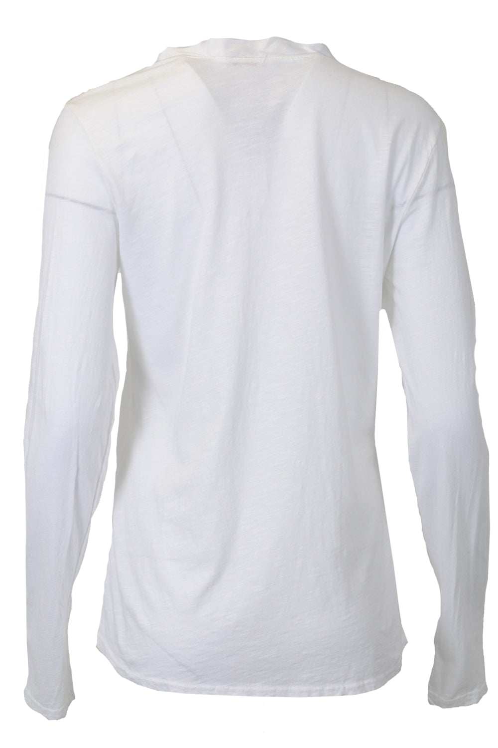Suzy D Pocket Long Sleeve Top Button Detail White