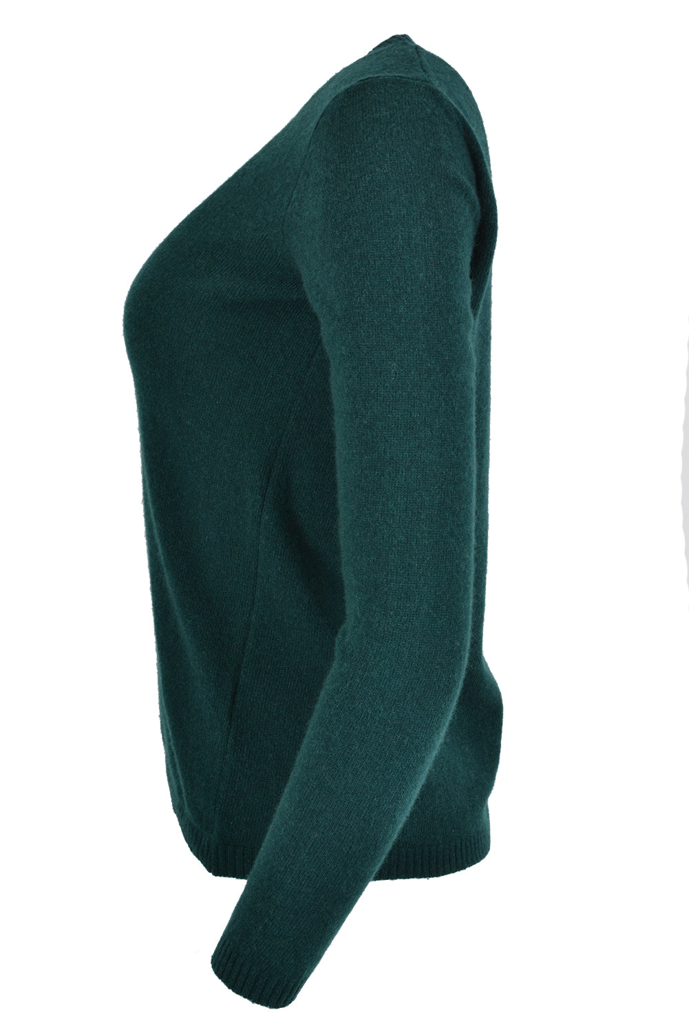 Ottod'Ame Cashmere Round Neck skinny Jumper Bottle Green