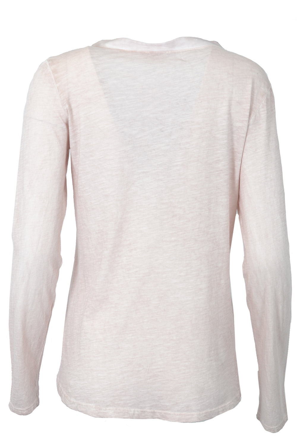 Suzy D Long Sleeve Pocket Top Soft Pink