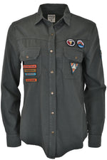 Five Jeans Five Jeans SHW2003 Badge Shirt Magnet Grey