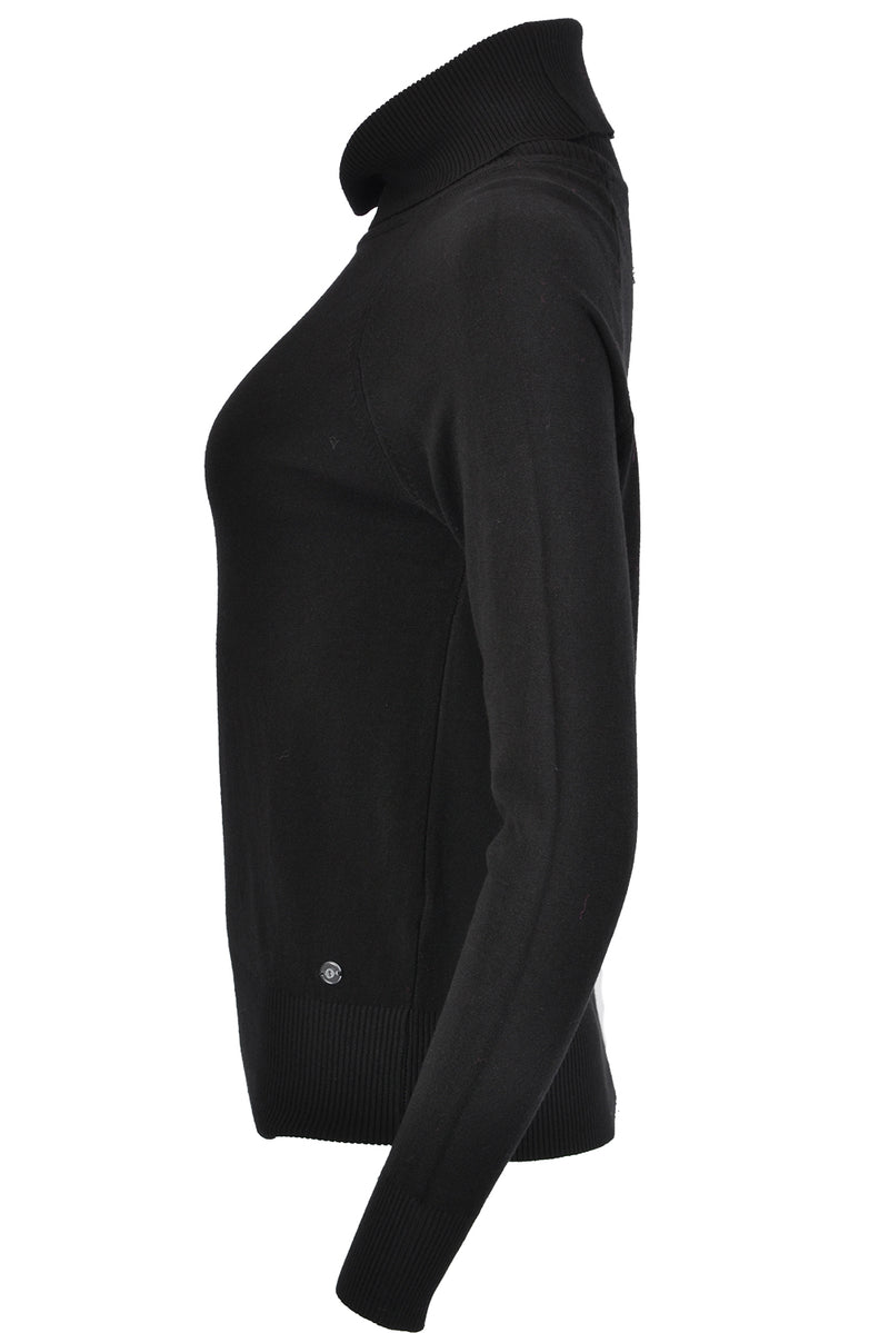 Ottod'Ame Polo Neck Jumper Black
