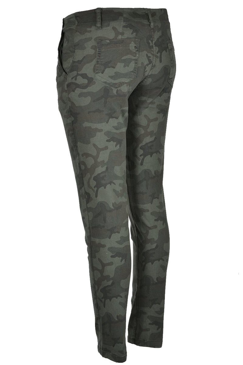 Suzy D Camouflage Pants Dark Green