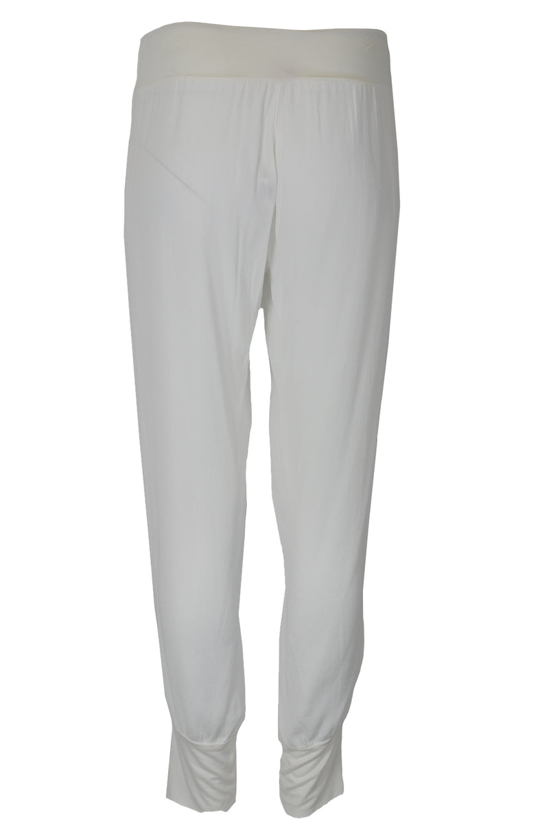 Suzy D Elasticated Waist Straight Cut Pants White