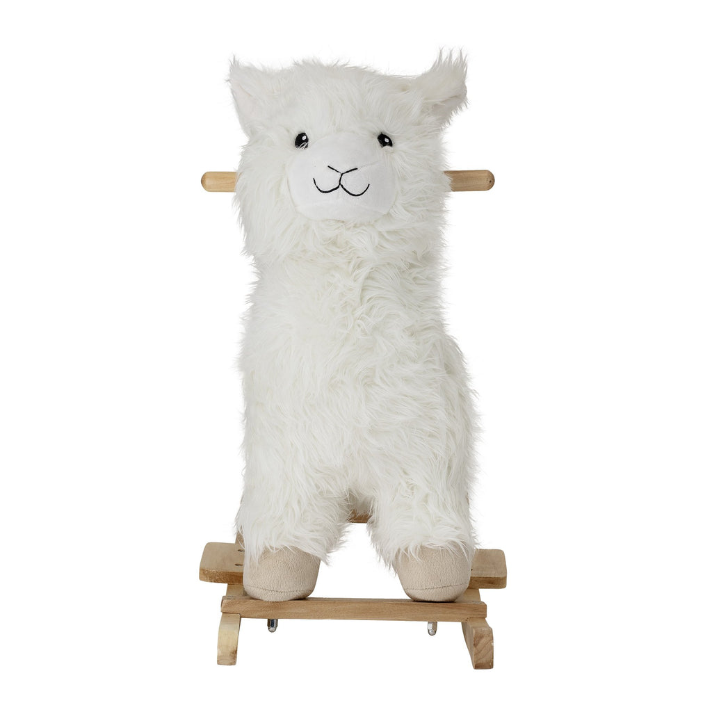 Bloomingville Lllama Rocking Toy White