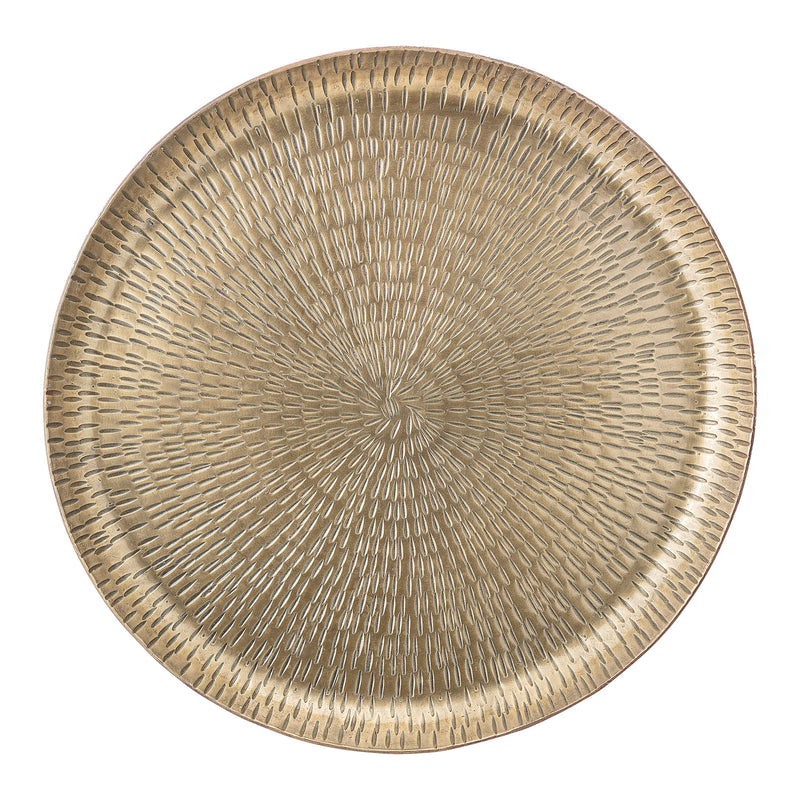 Bloomingville Indian Inlaid Brass Tray Brass