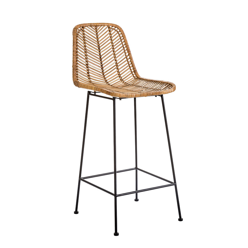 Bloomingville Fay Rattan Bar Stool Natural