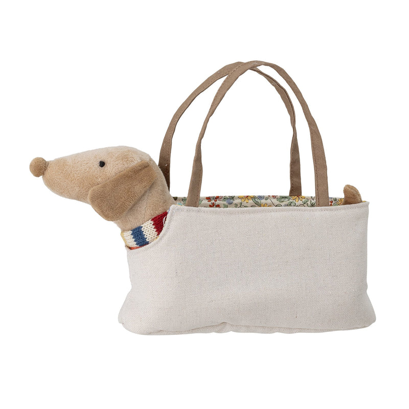 Bloomingville Soft Toy Dog in Bag Multi