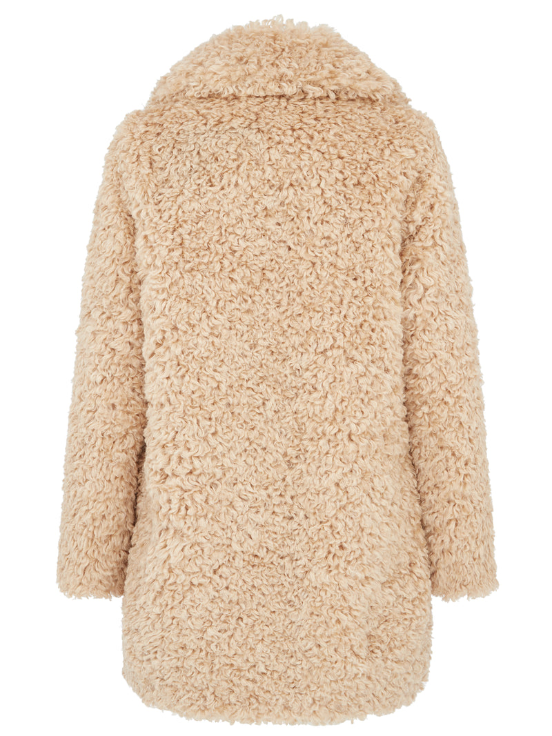 Urban Code Shaggy Short Coat Honey