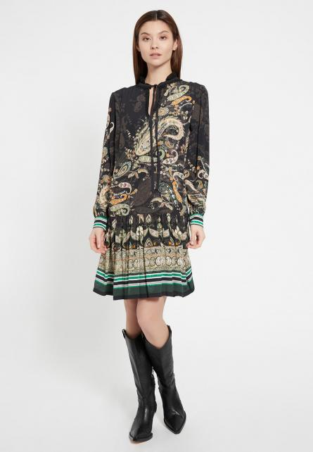 Ana Alcazar BALMA Boho Paisley Dress Mint
