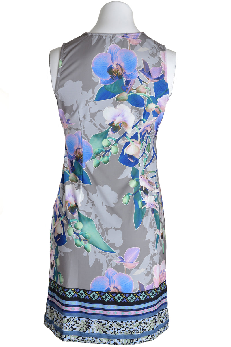 Hale Bob Dress Vienna Sleeveless Orchid Olive