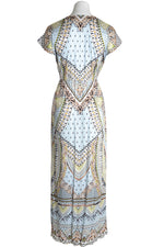 Hale Bob Long Dress Quinn Hippy Print Blue Blue